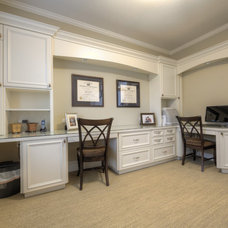 Traditional Home Office by WoodWorks INC.