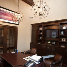 Contemporary Home Office by Oakley Home Builders