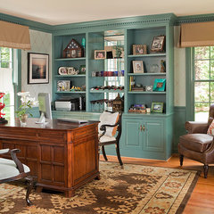 traditional home office by Rachel Bauer Design LLC