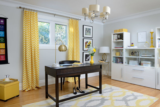 Transitional Home Office by Your Story by Design