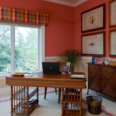 Tropical Home Office by Periwinkle Designs