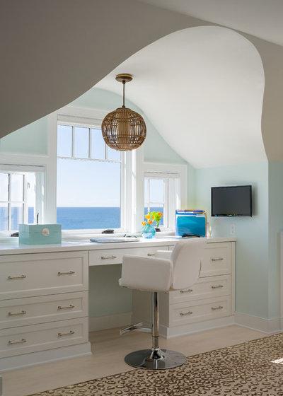 Bord de Mer Bureau à domicile by George Penniman Architects, LLC