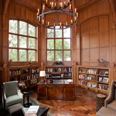 Traditional Home Office by Texas Timber Frames