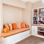 office alcove in philly rowhouse alcove contemporary home office