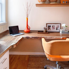 Contemporary Home Office by Amy Cuker, MBA, LEED AP