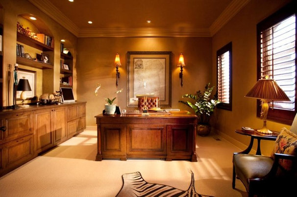 Traditional Home Office by Aneka Interiors Inc.