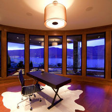 Contemporary Home Office by Begrand Fast Design Inc.