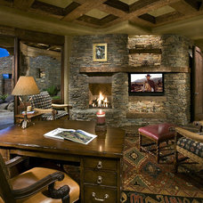 Rustic Home Office by Bess Jones Interiors