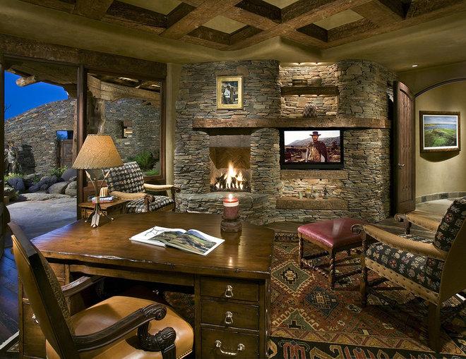 Southwestern Home Office by Bess Jones Interiors