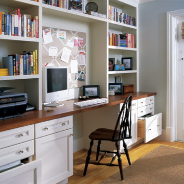 Office Built In Desks and Bookcases