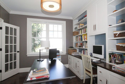 Traditional Home Office by Hawthorn Builders