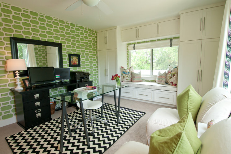 Contemporary Home Office by Butter Lutz Interiors, LLC