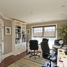 Farmhouse Home Office by Corbo Associates Inc.