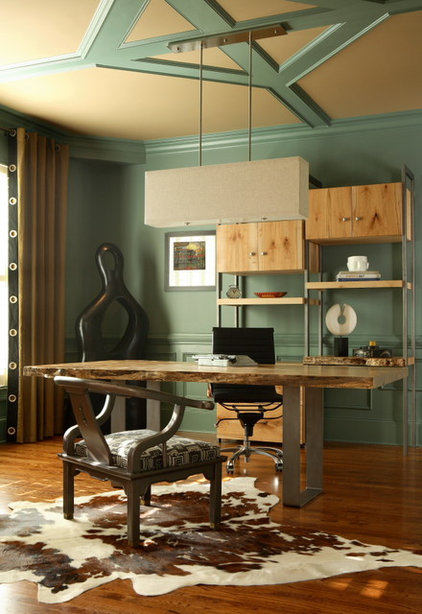 Eclectic Home Office by Design Theory Interiors of California, Inc