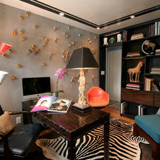 Eclectic Home Office by Dominic Fusco Studios