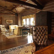 Rustic Home Office by Gabberts Design Studio