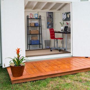 Idéer för ett mellanstort modernt arbetsrum