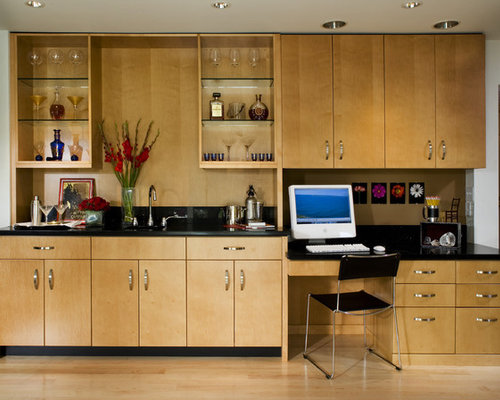 Best modern wet bar design ideas remodel pictures houzz for Office wet bar