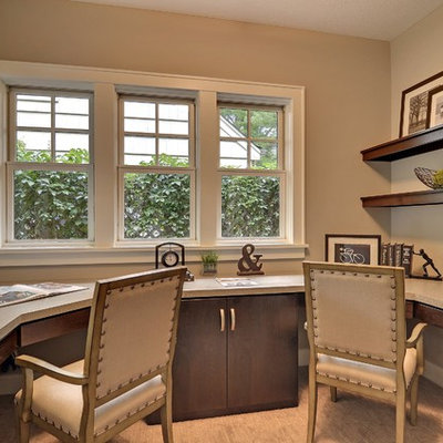 Inspiration for a contemporary built-in desk home office remodel in Minneapolis