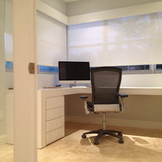 Modern Home Office by Infusion Interiors
