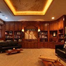 Mediterranean Home Office by Brown's Interior Design