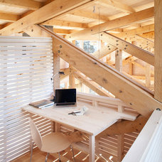 Rustic Home Office by Whitten Architects