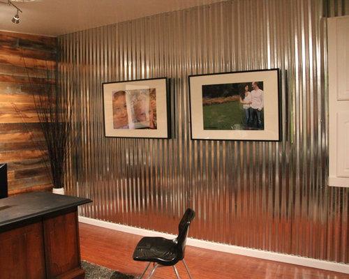 Corrugated Metal Walls corrugated metal wall home office design ideas, remodels & photos