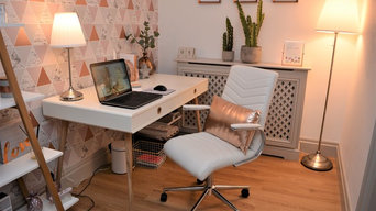 Office Makeover - Copper  and blush Geometric