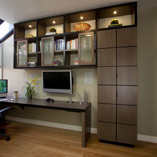 Contemporary Home Office by Mark Newman Design