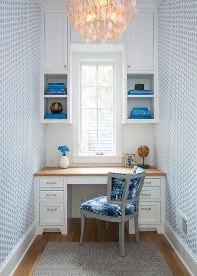 Beach Style Home Office by Martha O'Hara Interiors