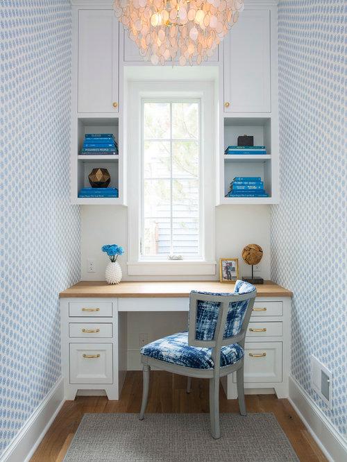 bureau bord de mer avec un bureau int gr photos et id es d co de bureaux. Black Bedroom Furniture Sets. Home Design Ideas