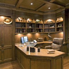 traditional home office by Old World Kitchens & Custom Cabinets