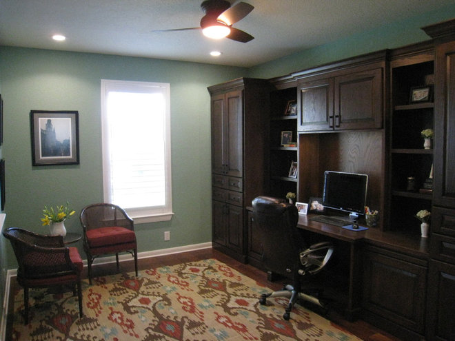 Traditional Home Office by Pink Door Designs