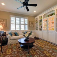 Traditional Home Office by Schell Brothers