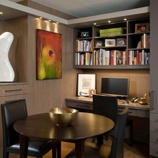 Contemporary Home Office by Fredman Design Group