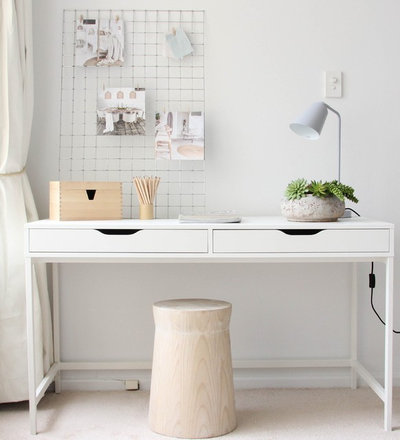 Scandinavian Home Office & Library by The Styling Edge