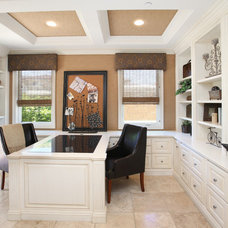 Traditional Home Office by V.I.Photography & Design