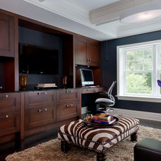 Contemporary Home Office by Steven Mueller Architects, LLC