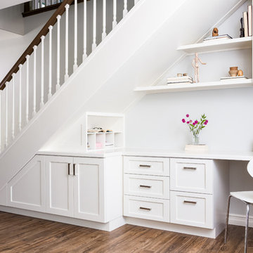 Office under Staircase with Storage and Desk File
