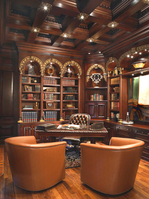 Elegant home office home design ideas pictures remodel for Office design houzz