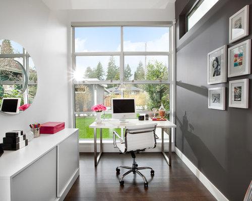 Best 15 Vancouver Dark Wood Floor Home Office Ideas | Houzz