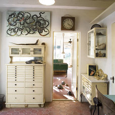 Eclectic Home Office by Pomegranate Workshop