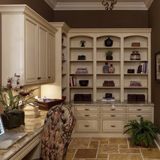 Traditional Home Office by Olde World Cabinetry