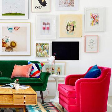 Oh Joy's LA Studio (two paintings)