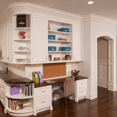 Traditional Home Office by JWH Design and Cabinetry LLC