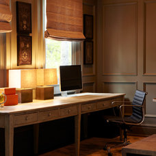 Transitional Home Office by Chango & Co.