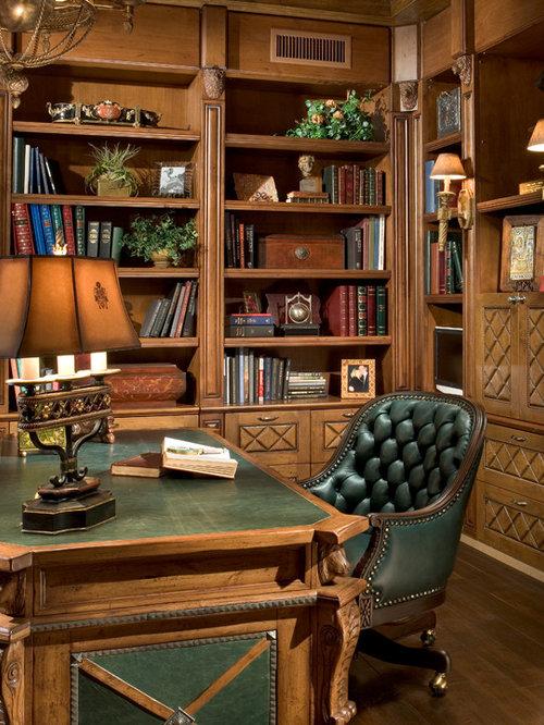 Mediterrane arbeitszimmer mit brauner wandfarbe ideen - Wandfarbe arbeitszimmer ...