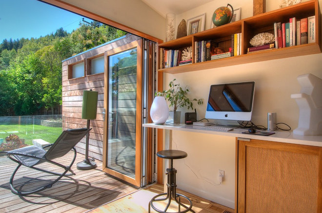 Midcentury Home Office by Foley Development