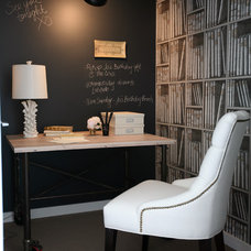 Eclectic Home Office by The Cross Interior Design
