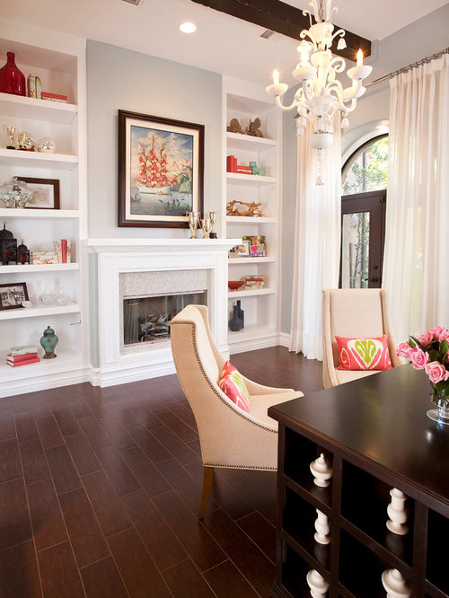 Fireplace Mantel And Bookcase Built-ins | Houzz